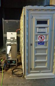 Opbouwen 3-delige douche en containment
